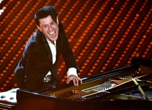 Italian musician Ezio Bosso performs on stage during the Sanremo Italian Song Festival at the Ariston theater in Sanremo, Italy, 10 Februaty 2016. The 66th Festival della Canzone Italiana runs from 09 to 13 February. ANSA/ETTORE FERRARI